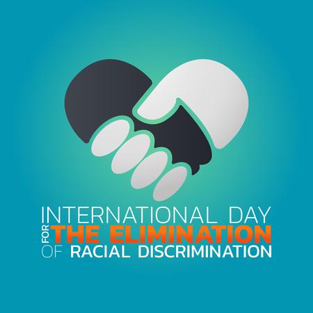 International Day for the Elimination of Racial Discrimination vector illustration design.