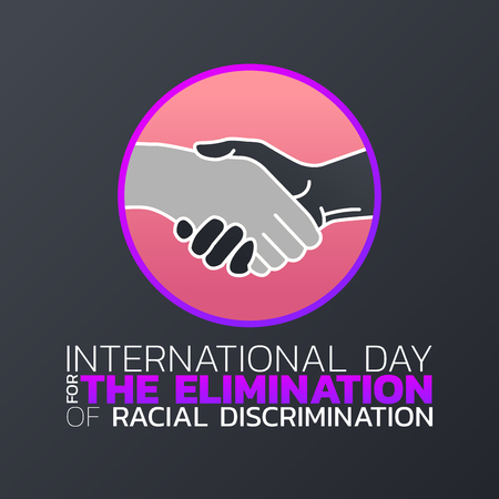 International Day for the Elimination of Racial Discrimination logo icon design, vector illustration. Illustration