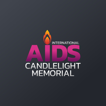 International AIDS Candlelight Memorial icon design, vector illustration