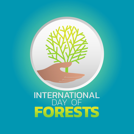 International Day of Forests icon design, vector illustration
