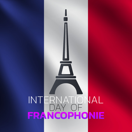 International Day of Francophonie  icon design, vector illustration