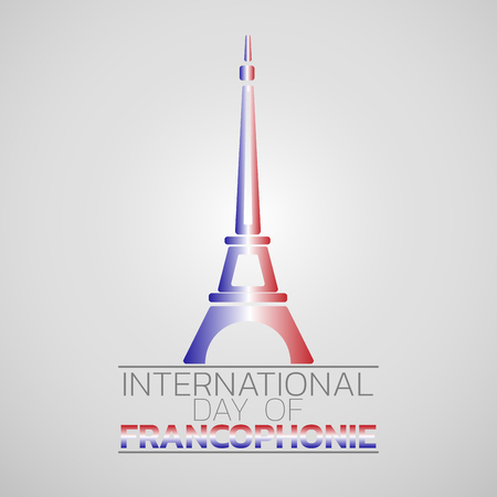 International Day of Francophonie  icon design, vector illustration.