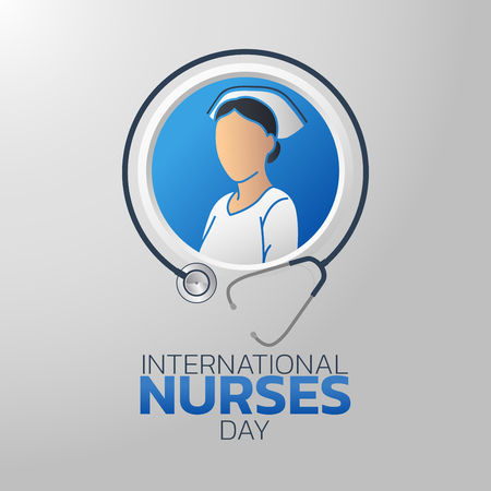 International Nurses Day icon design, vector illustration Stock Illustratie