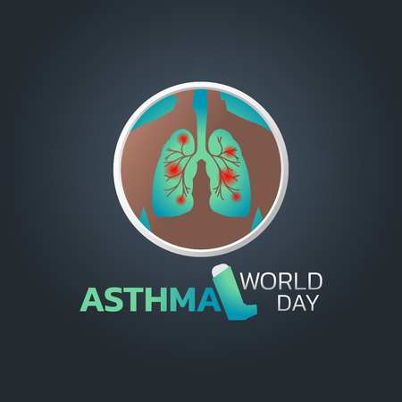 World Asthma Day icon design, vector illustration