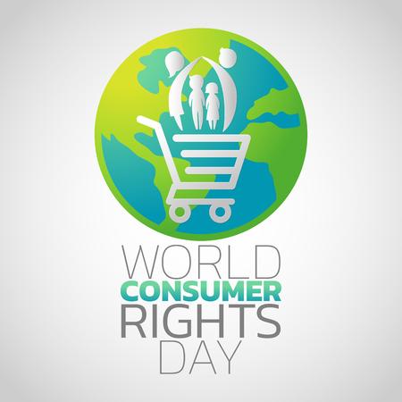 Progettazione dell'icona di Giornata mondiale dei diritti dei consumatori, illustrazione di vettore Archivio Fotografico - 98744200