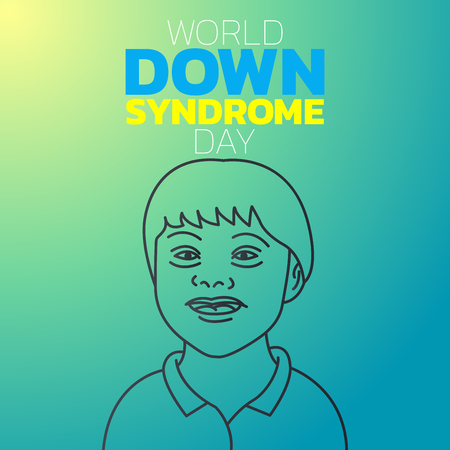 World Down Syndrome Day icon design, vector illustration