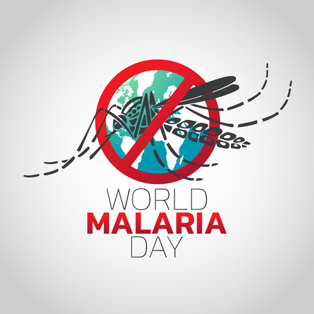 World Malaria Day icon design, vector illustration