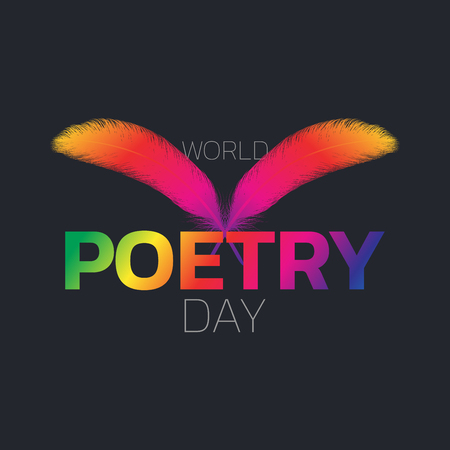 World Poetry Day icon design, vector illustration