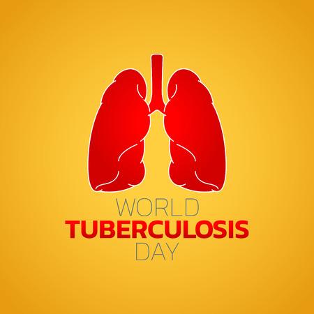 World Tuberculosis Day icon design, vector illustration Illustration