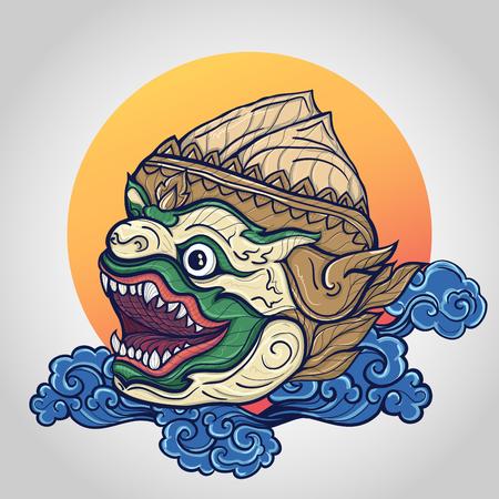 Hanuman head vector illustration Illustration