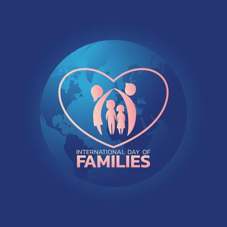 International Day of Families logo icon design, vector illustration