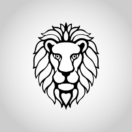 lion isolated on white background, Vector illustration. Illustration