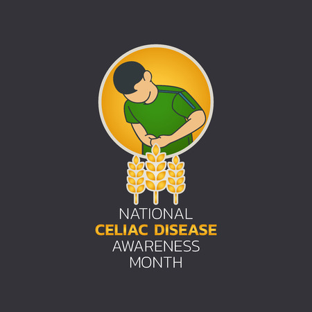 National Celiac Disease Awareness Month, Vector Illustration. Zdjęcie Seryjne - 100478658