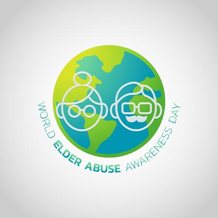 World Elder Abuse Awareness Day Vector illustration