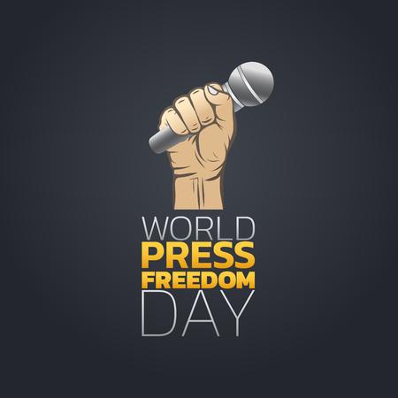 World Press Freedom Day, Vector Illustration.
