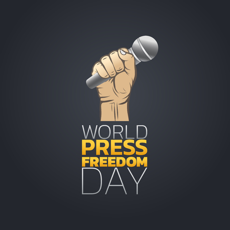 World Press Freedom Day, Vector Illustration.