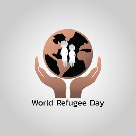 World Refugee Day Vector illustration Ilustrace
