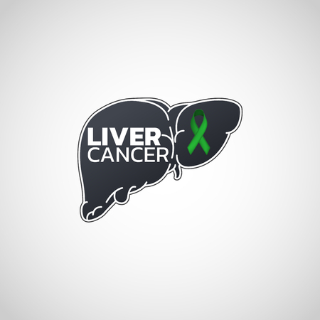 Liver Cancer icon illustration