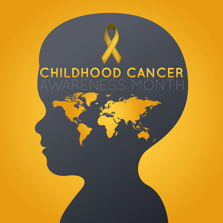 Childhood Cancer Awareness Month  icon illustration