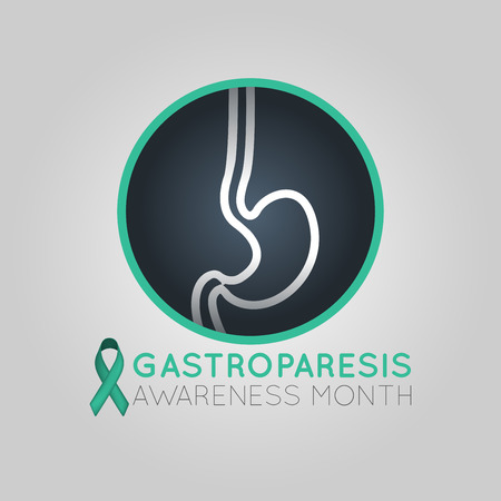 Gastroparesis Awareness Month  icon illustration