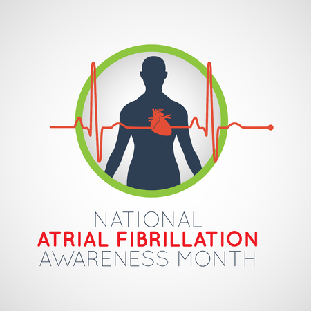 National Atrial Fibrillation Awareness Month   icon illustration 版權商用圖片 - 104274799