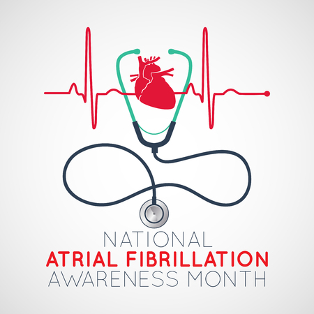 National Atrial Fibrillation Awareness Month   icon illustration