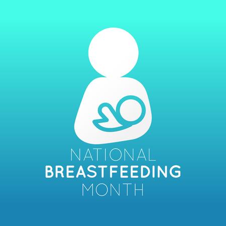 National Breastfeeding Month   icon illustration