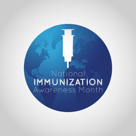 Illustrazione dell'icona del mese di sensibilizzazione sull'immunizzazione nazionale