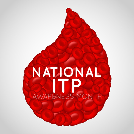 National ITP Awareness Month   icon illustration