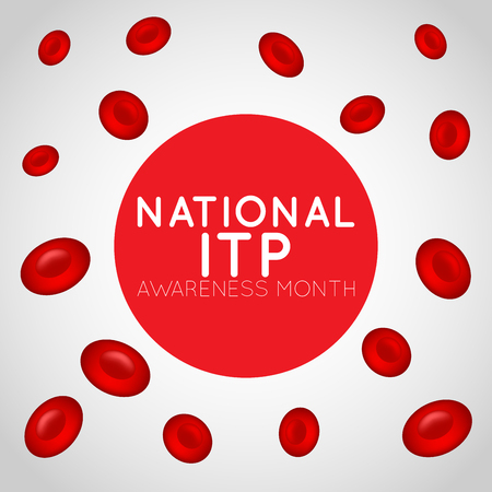 National ITP Awareness Month  icon illustration Stock fotó - 104274893