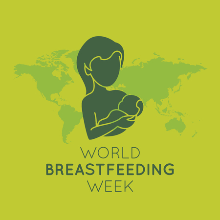 World Breastfeeding Week  icon illustration Ilustração