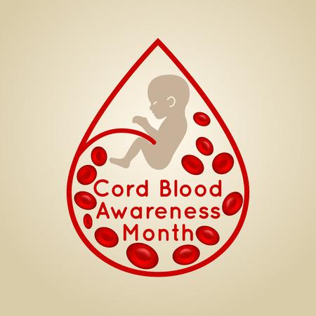 Cord Blood Awareness Month icon illustration