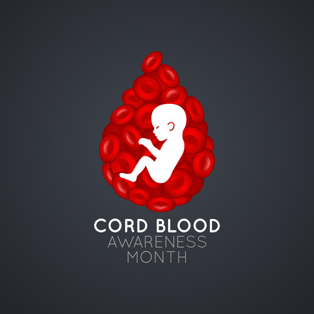 Cord Blood Awareness Month   icon illustration Ilustracja