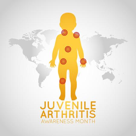 Juvenile Arthritis Awareness Month  icon illustration Vectores