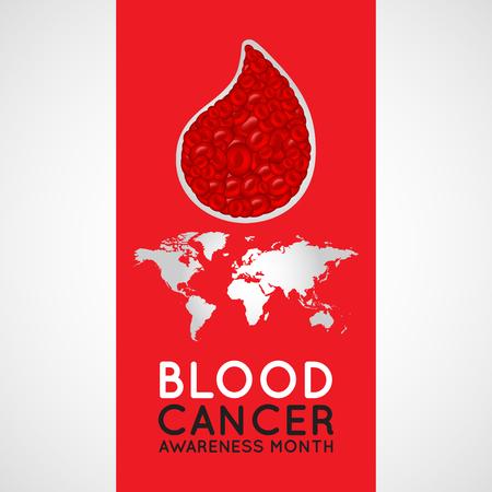 Blood Cancer Awareness Month vector logo icon illustration