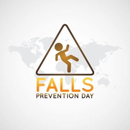 Falls Prevention Day vector logo icon illustration Stok Fotoğraf - 105751177