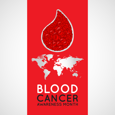 Blood Cancer Awareness Month vector logo icon illustration