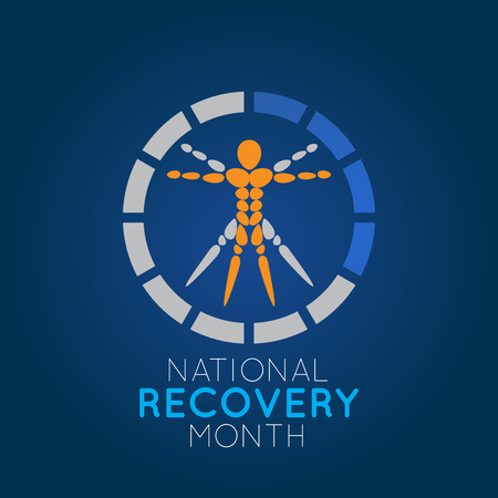 National Recovery Month vector logo icon illustration