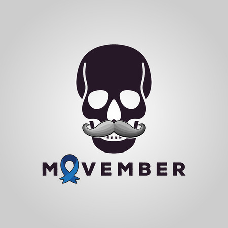 Vector Movember cancer awareness event poster, banner and card.
