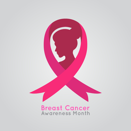 Breast Cancer Women Vector Illustration, medical vector illustration Çizim