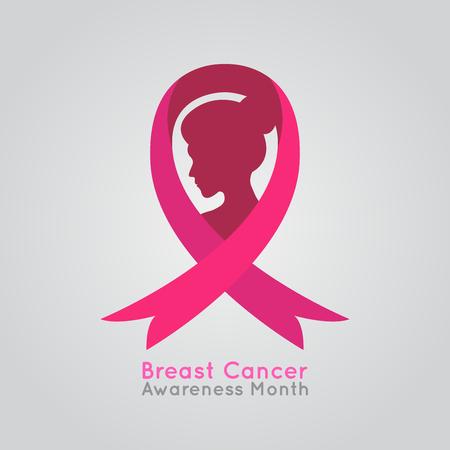 Breast Cancer Women Vector Illustration, medical vector illustration Illustration