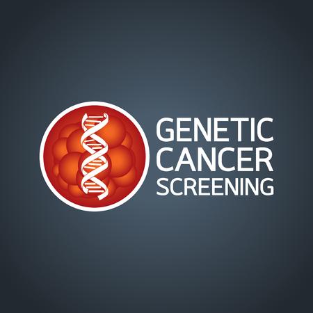 Genetic Cancer Screening Vector Illustration, medical vector
