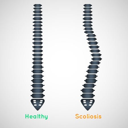 Scoliosis logo icon design, medical vector illustration Illustration