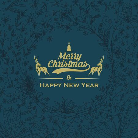 merry christmas golden card background