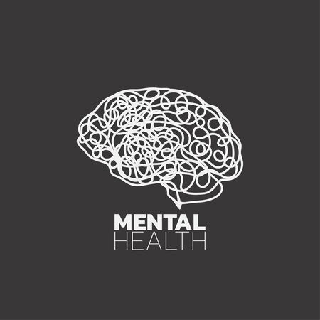 Mental health icon vector, mental health awareness month