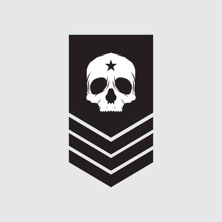 militärische Symbole, militärischer Rang-Symbolvektor