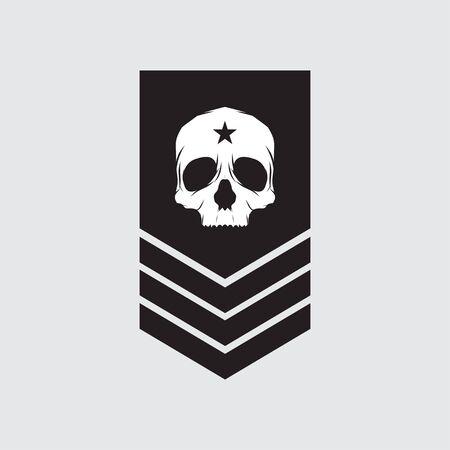 symboles militaires, vecteur d'icône de grade militaire