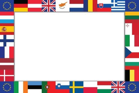 frame is composed of the flags of the EU countries Stock Vector - 16809901