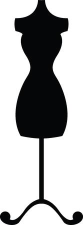 bust: black silhouette mannequin  dummy