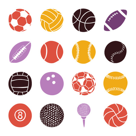 sports balls: set of sports balls